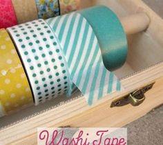 Easy DIY Home Decor Crafts: Washi Tape Storage