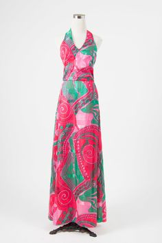 Forever change dress   Little Wing Vintage - 1960s psychedelic maxi dress