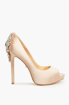 Badgley Mischka Kiara Heels in Rose Gold <<<<<not too crazy about the peeptoe but its GORGEOUS!!!!!
