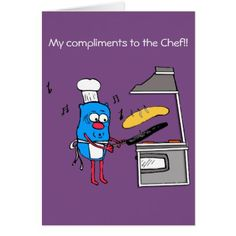 Compliments to the Chef thank you card - holidays diy custom design cyo holiday family