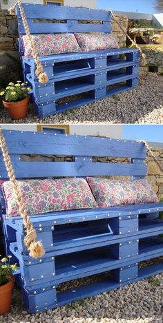 I'm not a huge fan of pallet furniture but this is pretty cool :)