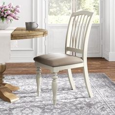 Kelly Clarkson Home Sylvan Extendable Dining Table & Reviews | Wayfair Solid Wood Dining Chairs, Upholstered Dining Chairs, Dining Chair Set, Dining Tables, Dining Rooms, Ladder Back Chairs, Side Chairs, Traditional Dining Chairs, Wood Countertops