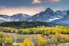 This image was captured near Telluride, CO last year. While this composition does fall short in some aspects for me, the one concept it does illustrate nicely is layering in long lens landscapes. -- Adam Barker