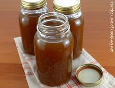 I always make homemade chicken stock, but I realized the other day that I have never made beef stock, yet I use it all the time. I had a hankering for some beef Mushroom Stock, Homemade Chicken Stock, Beef Broth, Preserving Food, Canning Recipes, Preserves, Sauces, Dips, Mason Jars