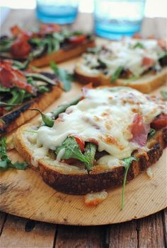 Open-Faced Vegetable and Prosciutto Melts