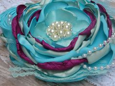 Frozen Inspired Headband 2/ Anna Disney princess Kids Couture Headband / Matilda Jane / Persnickety