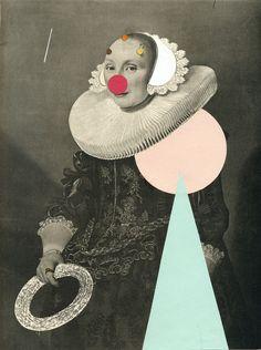 """Saatchi Online Artist: Valero Doval; Paper, Assemblage / Collage """"Harlequin"""""""