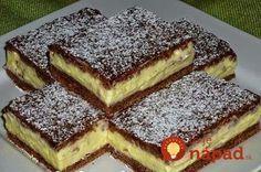 Krémove kokosky od Zuzky: Výborné tvarohové plátky s kokosom!