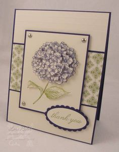 another hydrangea card  because I care set