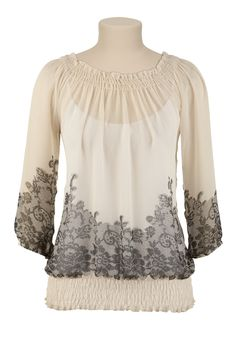I love this see through maurices top. Of course I would wear a full shirt under it. So so beautiful