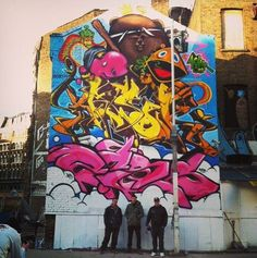 Brand new work by Inkfetish, Poer and Jasik from 40HK with the Walls Project in London