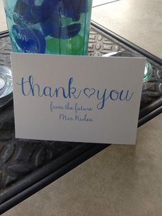 You cant go wrong with these simple and cute thank you cards! They can be used for all occasions and make great wedding thank you cards. You can also