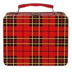 I still have this plaid lunch box, and it still has my name on the embossed label that my dad made on the rotary label maker.