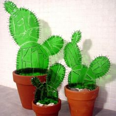Cactus: Perfect for here in Arizona Stained Glass Flowers, Fused Glass Art, Stained Glass Art, Mosaic Glass, Recycled Art, Recycled Glass, Glass Cactus, Cactus Art, Stained Glass Projects
