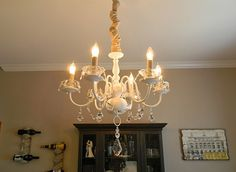 Turn a bland, dated chandelier into a WOW