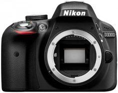 Nikon D3300 SLR-Digitalkamera (24 Megapixel, 7,6 cm (3 Zoll) TFT-LCD-Display, Live View, Full-HD) nur Gehäuse schwarz