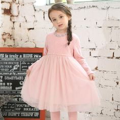 Princess Baby Girl Tutu Lace Dresses Neckless Candy Color Ruffles Party Dress Western Fashion Kids Girls Fall Winter Christmas Dress Online with $150.56/Piece on Smartmart's Store | DHgate.com