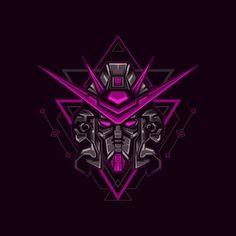 Gundam Head, Gundam Art, Robot Illustration, Illustrations, Robot Logo, Knight Logo, Fantasy Warrior, Fantasy Art, Gundam Wallpapers