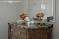 our vintage home love: DIY Love Mirror, Bedroom Updates