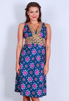 Olivia Dress - Nuru Blue