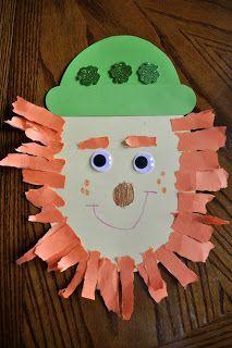 Preschool Crafts for Kids*: St. Patrick's Day Lucky Leprechaun Face Craft