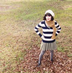 October Rebel: sweater over dress (chiffon sage green dress remix)