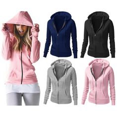 Jackets Women 2017 New Fashion Zipper Hooded Basic Coats Spring Autumn Casual Slim Solid Female Jacket Coat Casaco Feminino