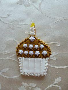 """3"""" cupcake sugar cookie in Brown"""