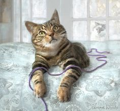 Anders With String by Dianne Woods -looks like my lost Tigger....I loved him so.