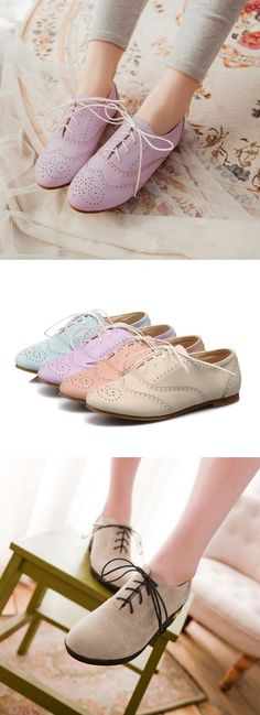 I usually don't like these types of shoes but these are cute #oxfords