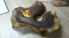Wooden plate made by me with tools I offer in my online shop at tobi.si