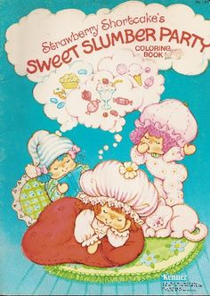 Strawberry Shortcake Coloring Books @ Toy-Addict.com // Sweet Sleepers!