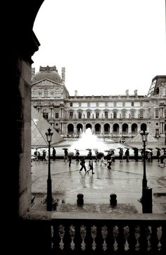 I took this in Paris while I was touring The Louvre with @Karyn Barnett and @Katy Barnett. It began to rain, and I caught this shot of many people under umbrellas. To make the photo more uniform and to set the tone as I remembered it, I made it black and white.