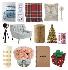 """""""Getting ready for the holidays"""" by neondots ❤ liked on Polyvore featuring interior, interiors, interior design, home, home decor, interior decorating, Lands' End, The Rise and Fall, Williams-Sonoma and Pier 1 Imports"""