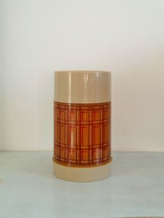 Vintage plaid wide mouth thermos, 1 pint - Aladdin by SHOPtulaVintage on Etsy