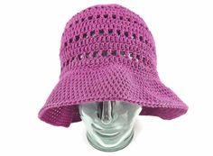 summer hat, vintage style sun hat, 70s retro style, purple bucket hat, sun hat for woman, cotton hat, summer party, beach hat, floppy hat, by MissSnowdrop on Etsy