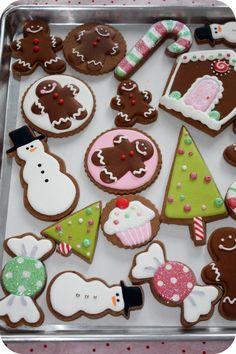 christmas cookies, these are soooo cute!