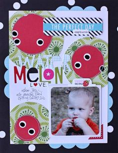 Bella Blvd Summer Squeeze Collectoin. Melon layout by DT member Kelly Holbrook