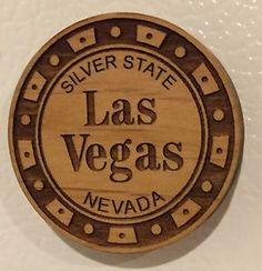 ☀las Vegas Hand Made Laser Cut Wood Casino Chip Magnet Made in U s A Souvenir☀ | eBay