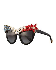 2cc290f8d8 Anna-Karin Karlsson Decadence All American Swarovski® Cat-Eye Sunglasses