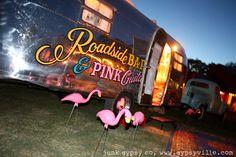 roadside bars & pink guitars...and pink flamingos . . miranda lambert's JUNK GYPSYfied airstream