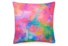 Crystal Pony 20x20 Pillow, Pink/Multi on OneKingsLane.com