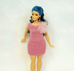 Curvy Barbie dress curvy barbie clothes curvy by CrochetKnitt