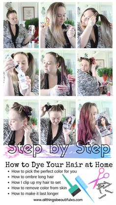 DIY at Home Hair Dye Tips & Tricks Twisted Headband Styling Tutorial with Schwarzkopf Metallics Smoky Violet & hair products on All Things Beautiful XO Sleep Hairstyles, Twist Hairstyles, Headband Hairstyles, Home Hair Dye Tips, How To Dye Hair At Home, Metallic Hair Dye, Schwarzkopf Hair, Dyed Tips