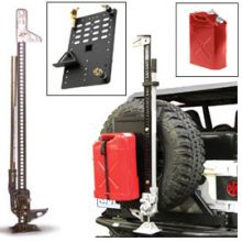 Hi-Lift Cast/Steel Jack Kit with Jerry Can (Red) & Intelligent Rack Jeep Cherokee Parts, Jeep Parts, 4x4 Trucks, Cool Trucks, Ford F150 Accessories, Car Accessories, Morris 4x4 Center, Jimny Suzuki, Cast Steel