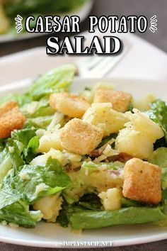 Caesar Potato Salad - This easy recipe is the best of two favorite summer salads! It has all the yummy flavors of Caesar salad combined with the comforting bite of potatoes. Casserole Recipes, Soup Recipes, Salad Recipes, Cooking Recipes, Easy Dinner Recipes, Easy Meals, Yummy Appetizers, Summer Salads, My Favorite Food