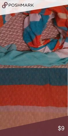Scarf Blue, orange, white, and yellow striped Forever 21 scarf Forever 21 Accessories Scarves & Wraps