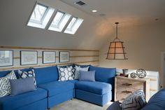 Ashley Addison Vintage Casual Cottage Slate Denim Blue