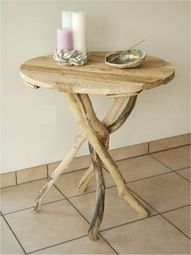 driftwood end tables would look great in my safari theme bedroom!!