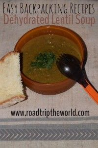 Dehydrated Lentil Soup is delicious and perfect for backpacking and camping! And so easy too.